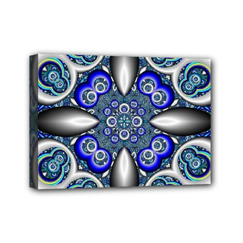 Fractal Cathedral Pattern Mosaic Mini Canvas 7  X 5  by Nexatart