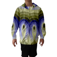 Fractal Eye Fantasy Digital Hooded Wind Breaker (kids)