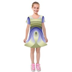 Fractal Eye Fantasy Digital Kids  Short Sleeve Velvet Dress