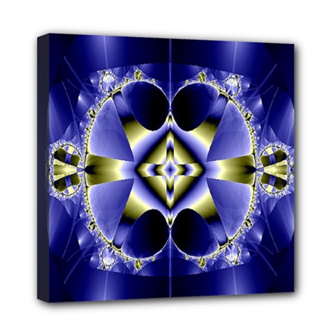 Fractal Fantasy Blue Beauty Mini Canvas 8  X 8  by Nexatart