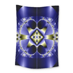 Fractal Fantasy Blue Beauty Small Tapestry by Nexatart