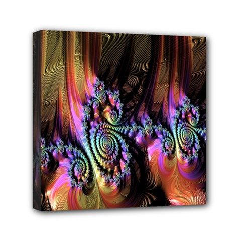 Fractal Colorful Background Mini Canvas 6  X 6