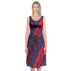 Fractal Art Digital Art Midi Sleeveless Dress
