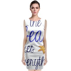 The Beach Fixes Everything Classic Sleeveless Midi Dress by OneStopGiftShop
