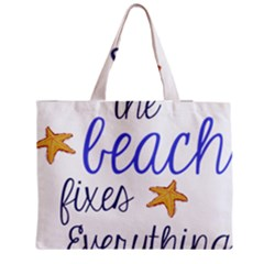 The Beach Fixes Everything Medium Zipper Tote Bag by OneStopGiftShop
