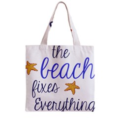 The Beach Fixes Everything Grocery Tote Bag by OneStopGiftShop