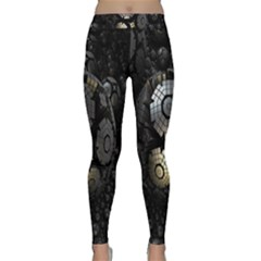 Fractal Sphere Steel 3d Structures Classic Yoga Leggings by Nexatart