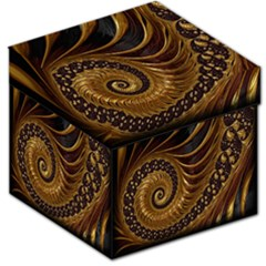 Fractal Spiral Endless Mathematics Storage Stool 12   by Nexatart
