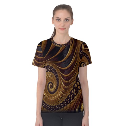 Fractal Spiral Endless Mathematics Women s Cotton Tee by Nexatart