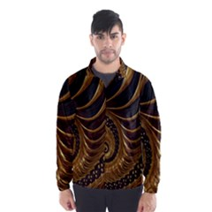 Fractal Spiral Endless Mathematics Wind Breaker (men) by Nexatart