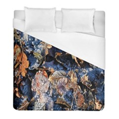 Frost Leaves Winter Park Morning Duvet Cover (full/ Double Size) by Nexatart