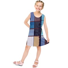 Glass Facade Colorful Architecture Kids  Tunic Dress