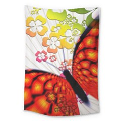 Greeting Card Butterfly Kringel Large Tapestry