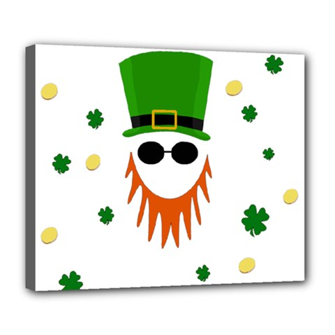 St  Patrick s Day Deluxe Canvas 24  X 20   by Valentinaart