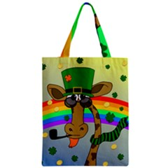 Irish Giraffe Zipper Classic Tote Bag by Valentinaart