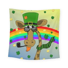 Irish Giraffe Square Tapestry (small) by Valentinaart