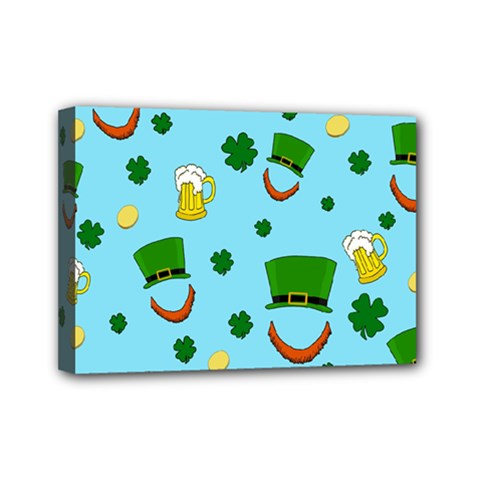 St  Patrick s Day Pattern Mini Canvas 7  X 5  by Valentinaart