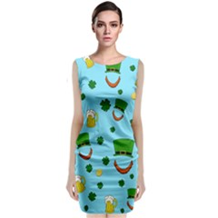 St  Patrick s Day Pattern Classic Sleeveless Midi Dress by Valentinaart