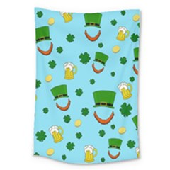 St  Patrick s Day Pattern Large Tapestry by Valentinaart