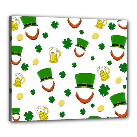 St  Patrick s Day Pattern Canvas 24  X 20  by Valentinaart