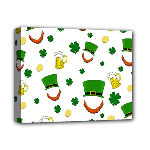 St  Patrick s Day Pattern Deluxe Canvas 14  X 11  by Valentinaart