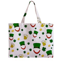 St  Patrick s Day Pattern Medium Zipper Tote Bag by Valentinaart