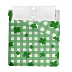 Clover Pattern Duvet Cover Double Side (full/ Double Size) by Valentinaart