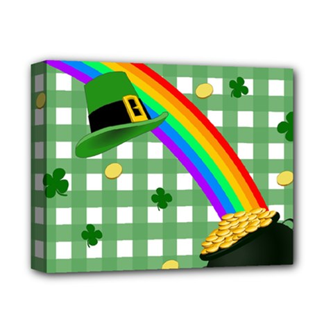 St  Patrick s Day Rainbow Deluxe Canvas 14  X 11  by Valentinaart