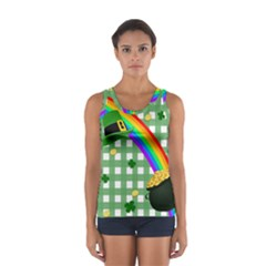 St  Patrick s Day Rainbow Women s Sport Tank Top  by Valentinaart