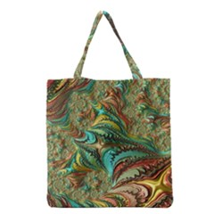 Fractal Artwork Pattern Digital Grocery Tote Bag by Nexatart