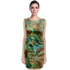 Fractal Artwork Pattern Digital Classic Sleeveless Midi Dress by Nexatart