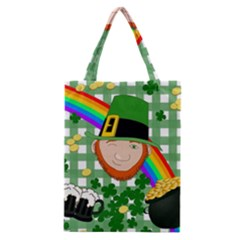 Lucky Irish Classic Tote Bag by Valentinaart