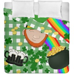 Lucky Irish Duvet Cover Double Side (king Size) by Valentinaart