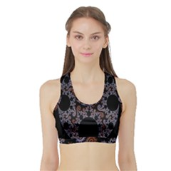 Fractal Complexity Geometric Sports Bra With Border