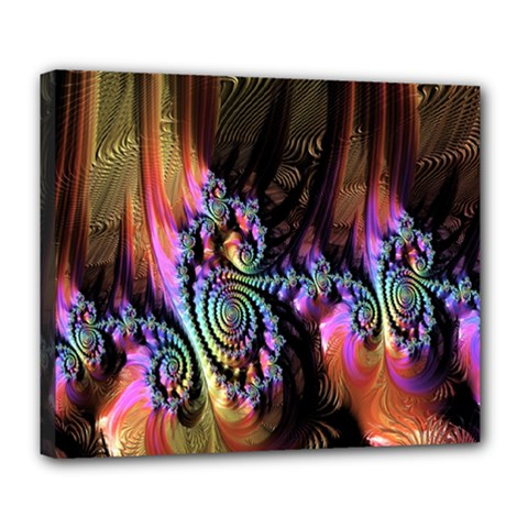 Fractal Colorful Background Deluxe Canvas 24  X 20   by Nexatart