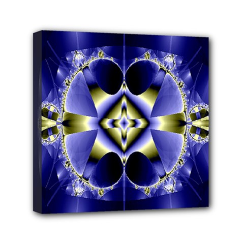Fractal Fantasy Blue Beauty Mini Canvas 6  X 6  by Nexatart