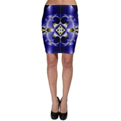 Fractal Fantasy Blue Beauty Bodycon Skirt by Nexatart