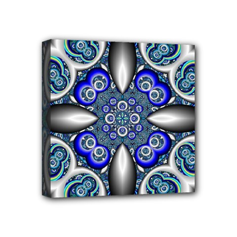 Fractal Cathedral Pattern Mosaic Mini Canvas 4  X 4  by Nexatart