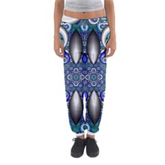 Fractal Cathedral Pattern Mosaic Women s Jogger Sweatpants by Nexatart