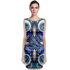 Fractal Cathedral Pattern Mosaic Classic Sleeveless Midi Dress