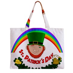 St  Patrick Zipper Mini Tote Bag by Valentinaart