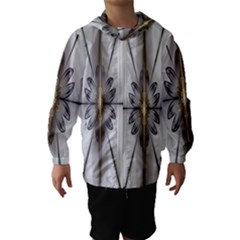 Fractal Fleur Elegance Flower Hooded Wind Breaker (kids)