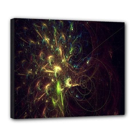 Fractal Flame Light Energy Deluxe Canvas 24  X 20   by Nexatart