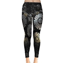 Fractal Sphere Steel 3d Structures Leggings  by Nexatart