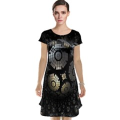 Fractal Sphere Steel 3d Structures Cap Sleeve Nightdress by Nexatart