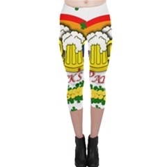 Beer Capri Leggings  by Valentinaart