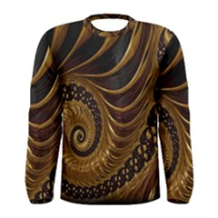 Fractal Spiral Endless Mathematics Men s Long Sleeve Tee by Nexatart
