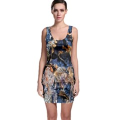 Frost Leaves Winter Park Morning Sleeveless Bodycon Dress by Nexatart