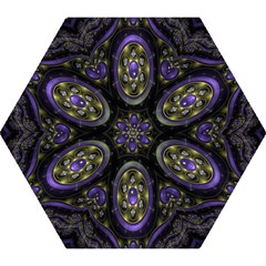 Fractal Sparkling Purple Abstract Mini Folding Umbrellas