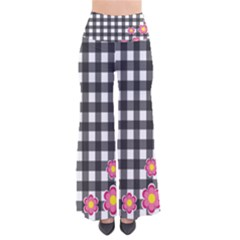 Floral Plaid Pattern Pants by Valentinaart